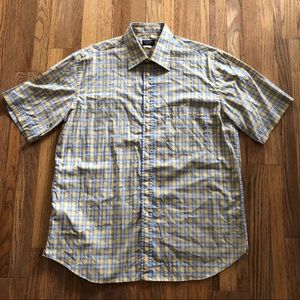 Paul & Shark Yachting Italy plaid short sleeve, XL
